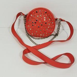 Betsey Johnson Super Star Studded Round Chain Bag